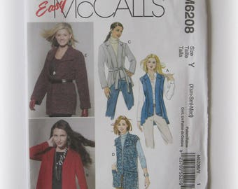 Easy McCall's M6208 Misses' Cardigan Pattern...Out of Print!