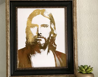 Jesus Christ-Foiled Portrait