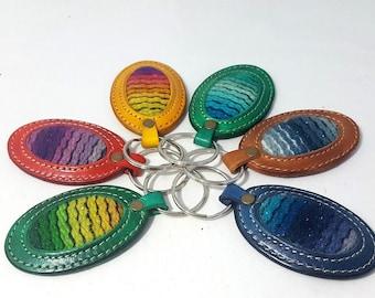 Leather Keychain, Personalized Leather keychain, Handmade Leather Keychain, leather key fob,Leather Keyring, Key ring, key holder