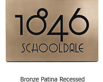 "Grado Gradoo Arts and Crafts Address Plaque, Craftsman Sign, 12.5"" W x 8.75"" H Made in USA"