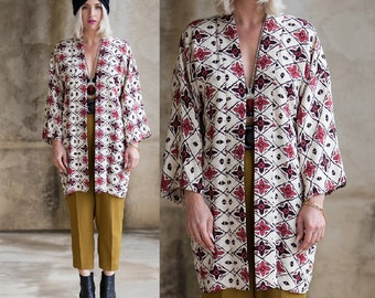 Vintage 1970s Silk Kimono Jacket