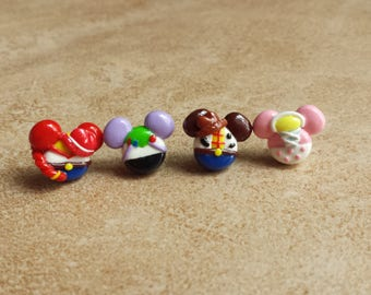 Toy Story Mouse Inspired Earrings-Woody Inspired Clay Earrings-Buzz Lightyear Inspired Clay Earrings-Jesse Inspired Clay Earrings