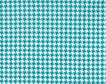 SALE 30% OFF Tiny Houdstooth in white and marine Premium Cotton from Michael Miller Fabrics