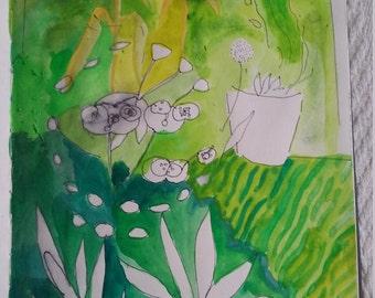 Summer Garden. Painting