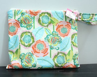 Wet Bag wetbag Diaper Bag ICKY Bag wet proof turquoise floral gym bag swim cloth diaper accessories zipper gift newborn baby kids beach bag