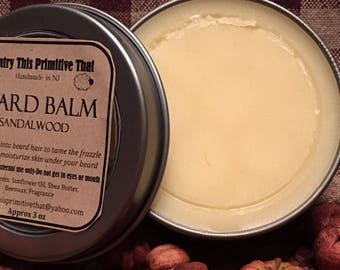 Sandalwood Beard Balm/ Moisturizing/ Country This Primitive That