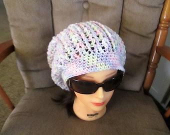 Women's super slouchy, boho chic, hand crocheted