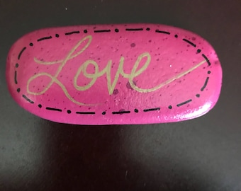 Love painted rock