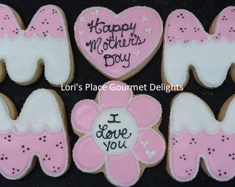 Mothers Day Cookies - Mom Cookies - 6 Cookies