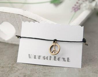 Bracelet Peace-Wedding, JGA, team bride, friendship-color: Bronze-Armcandy, minimalist, various colors