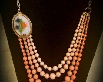 After Life Accessories handmade shab chic shades of romance layered Necklace