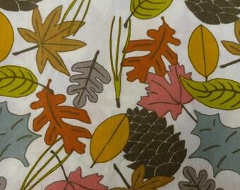 1/2 Yard Organic Cotton Fabric - Birch Fabrics Camp Sur 3, Leaves Poplin