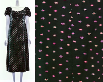 Vintage 60s Colorful Polka Dot Maxi Dress Yayoi Kusama Vintage Dress Baby Doll Dress Muu Muu Dress Hawaiian Dress Small Medium