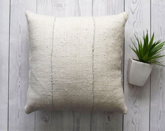 Double Sided Mudcloth Pillow, African Mudcloth Pillow Cover, Tribal Pillow Cover: Made to order