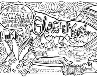 Glacier Bay Coloring Card (Individual)