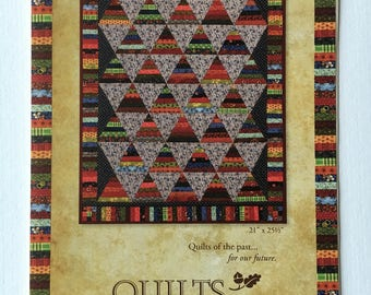 "Pike's Peak quilt pattern - Annemarie S. Yohnk for Quilts Remembered - 21"" x 25 1/2"""