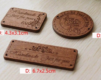 3 Pcs Wooden Handmade wood buckle