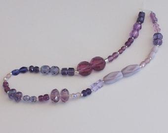 25 Pairs of Assorted Purple Beads // Purple Accent Beads // Purple Destash Bead Mix