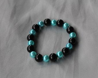 Gratitude Bracelet - Black and Turquoise