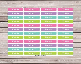 To Buy M/D/N Header Set of 48 Planner Stickers Erin Condren Planner Stickers, Eclp, Filofax, Kikki K, Mambi, Happy Planner