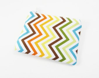 Coin Purse - Ready to Ship - Rainbow Chevron Coin Purse - Change Purse - Small Credit Card Wallet - Zip Money Bag