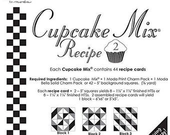 Moda Cake Mix or Cupcake Mix - Foundation Paper Piecing, Pattern Tracing - Layer Cake or Charm Pack Required - Pattern Only, DIY