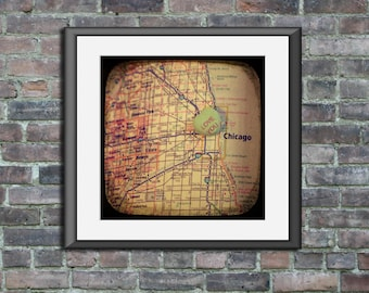 love you chicago custom candy heart map art ttv unframed photo print wedding engagement anniversary housewarming gift