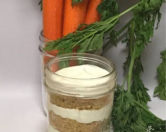 2 (8oz) Carrot Cake Jars