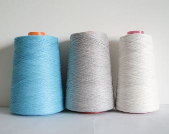 Linen Yarn 3 Ply Yarn White Linen Yarn Grey Linen Aqua Blue Yarn Linen for Crocheting Yarn for Knitting 500 g 1500 g
