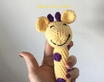 Happy Giraffe Baby Rattle