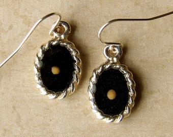 Mustard Seed Earrings -  Mustard Seed Faith - Black Earrings - Mustard Seed Dangly Earrings - Mustard Seed Jewelry - Christian Gift