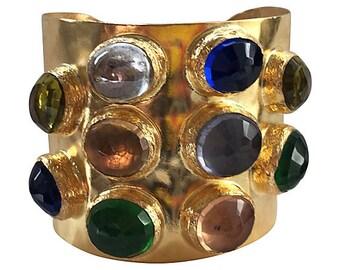 Byzantine-Style Jeweled Cuff