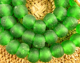 Recycled Glass from Ghana- Green