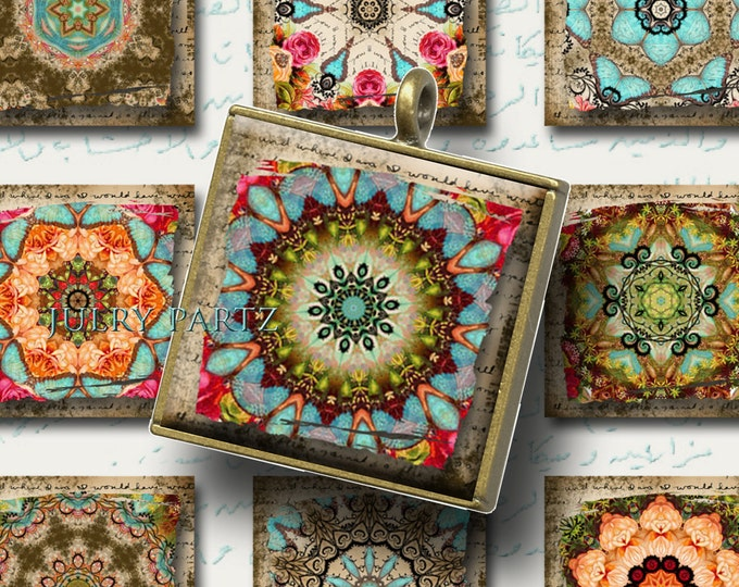 MOROCCAN RELICS 1x1, Printable Digital Images, Cards, Gift Tags, Stickers, Scrabble Tiles, Magnets