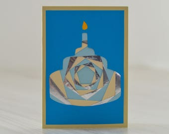 """Birthday cake"" birthday card folded (iris folding)"