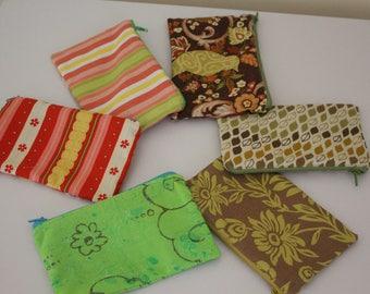 Designer fabric zipper pouch
