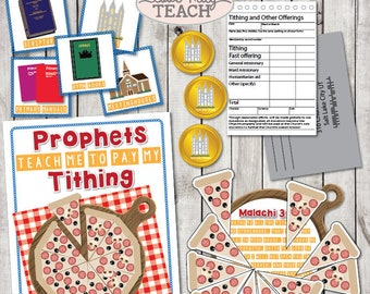 "LDS May 2018 Sharing Times Week 3: ""Prophets teach me to pay tithing"" Lesson Packet & Activity Ideas"