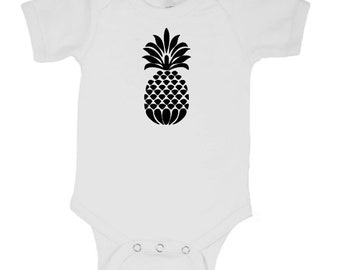 Pineapple Trendy Infant Baby Kids Children Shirt Bodysuit Many Sizes Colors Jenuine Crafts