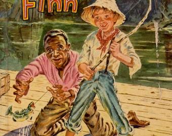 Huckleberry Finn by Mark Twain, illustrated by Paul Frame (Abridged edition)
