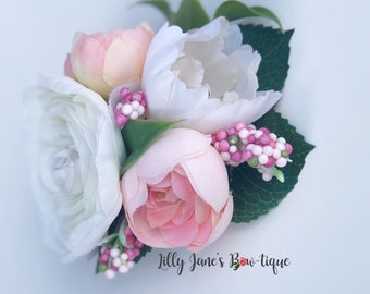Pink and Ivory floral
