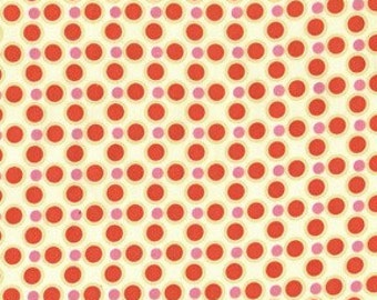 50% off Sale Price MEADOWSWEET 2 by Sandi Henderson, Meadow Dot in geranium, 1 yard