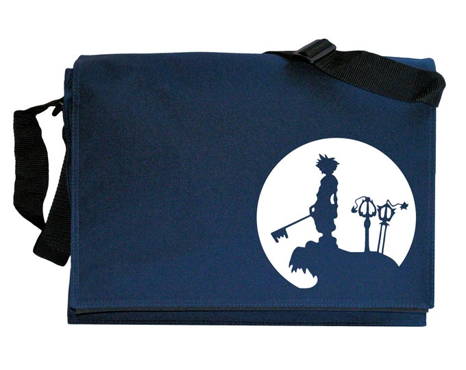 Sora Full Moon Navy Blue Messenger Shoulder Bag