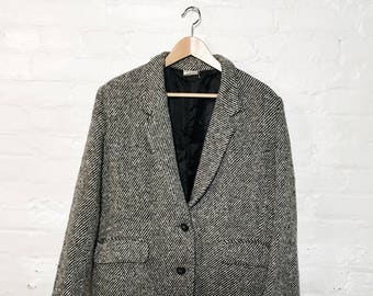 Tweed Blazer Black and White