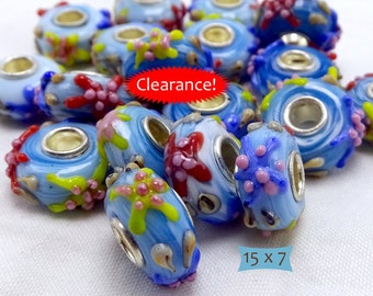 Blue Glass Starfish Lampwork Beads Large Holes—1 Pc--40% OFF | 6-S500-1
