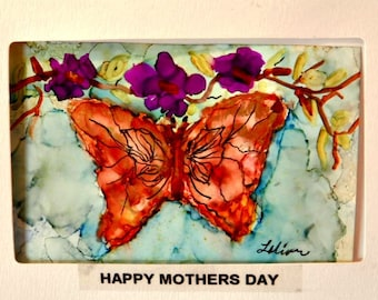 Mother's Day Greeting Card With Butterfly
