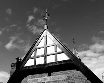 St Augustine's Hall Black and White