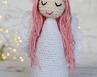 Angel crochet pattern, crochet angel amirugumi, 2 PDFs, English, Norwegian, instant download pattern