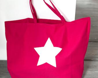 Raspberry large Tote Bag