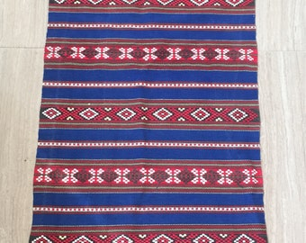 Vintage ukrainian woven table runner
