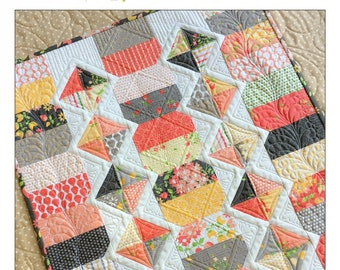 Diamond Trail Quilted Table Runner Pattern - Table Quilt Pattern - Charm Pack Friendly - Carried Away Quilting CAQ 014
